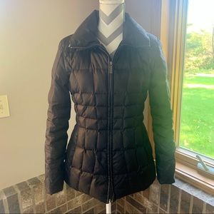 CALVIN KLEIN black down puffer coat
